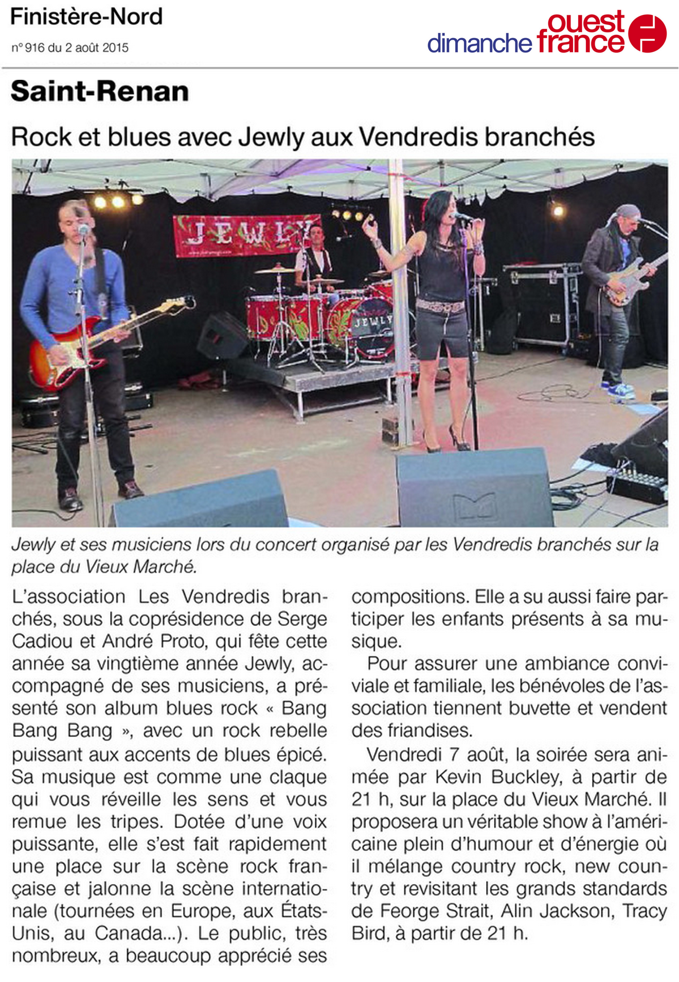 Ouest France – 02/08/2015