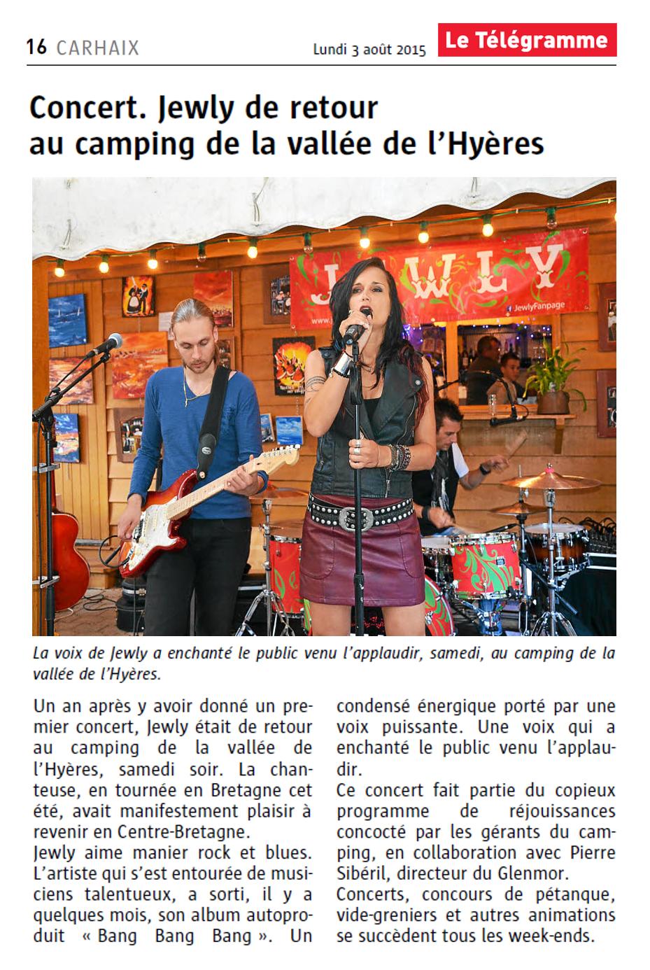 Le Télégramme – 03/08/2015