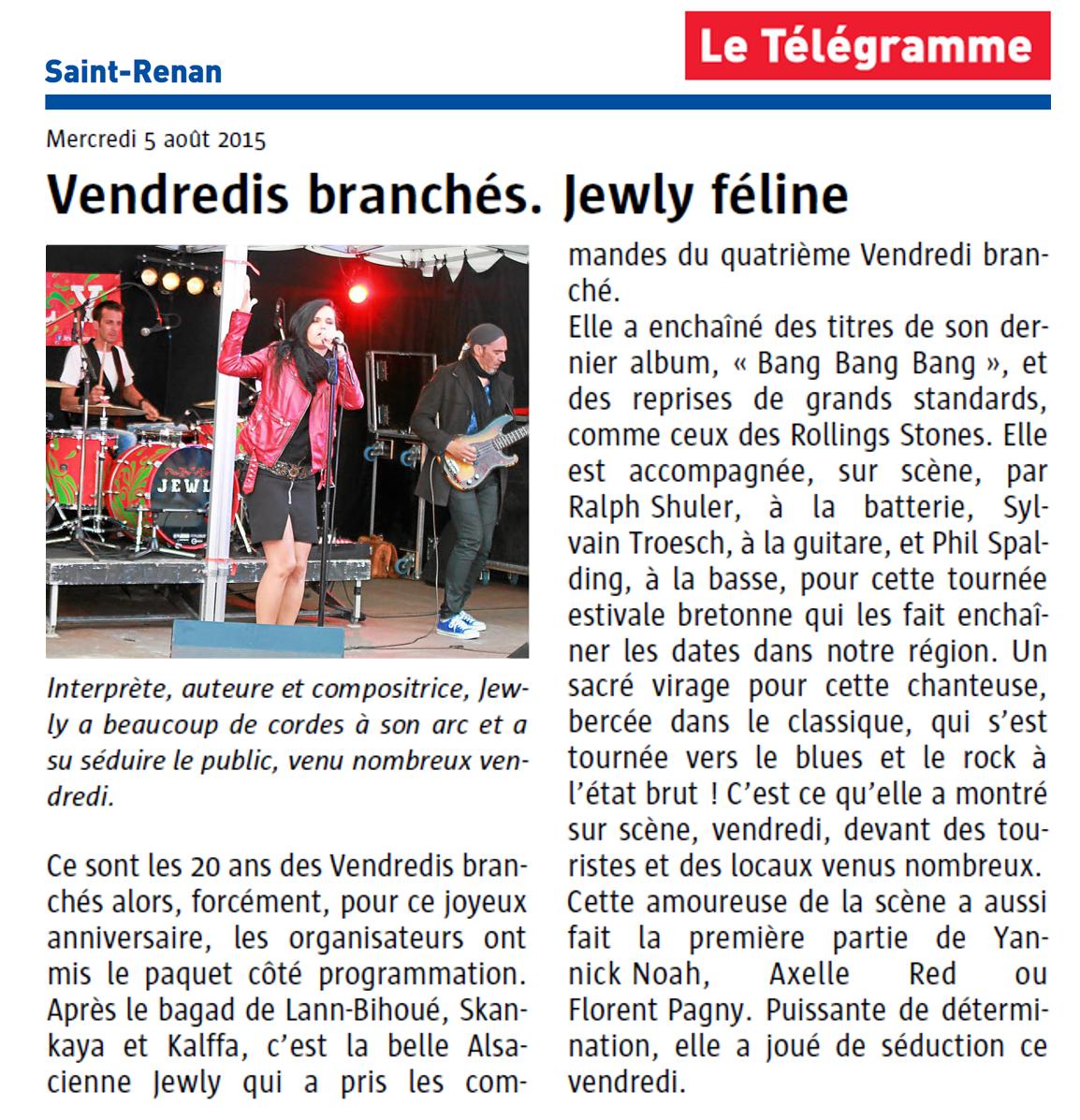 Le Télégramme – 05/08/2015