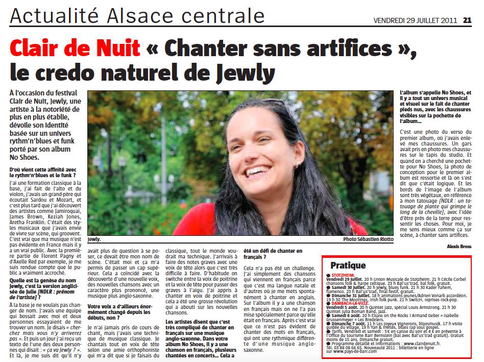 L'Alsace – 07/2011