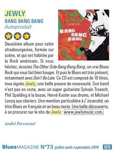 Blues Magazine – 3e trimestre 2014