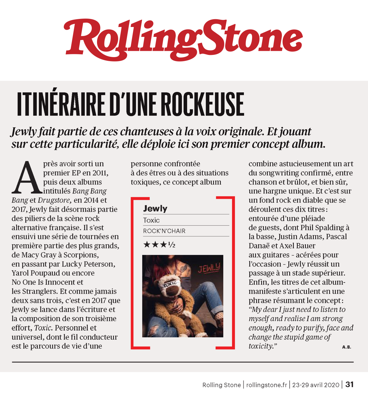 Rolling Stone - Avril 2020
