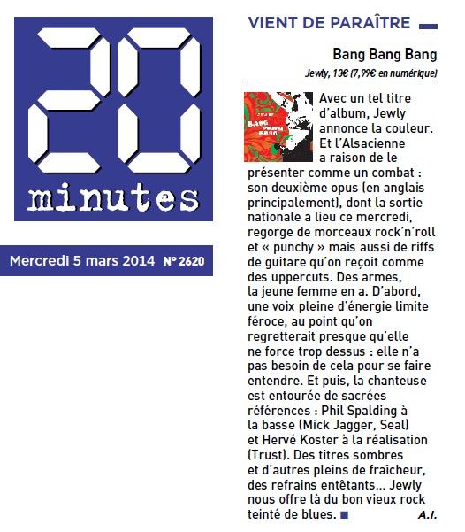 20 minutes – 05/03/2014